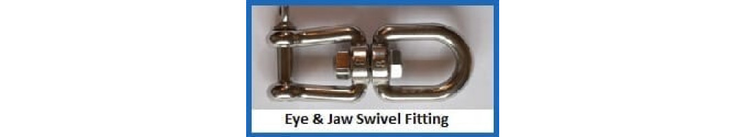 Eye-Jaw Swivel Fitting