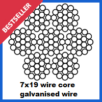 7x19 galvanized wire rope