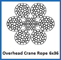 6x36 overhead crane rope