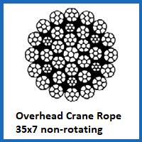 35x7 overhead crane rope