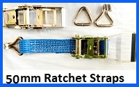 50mm ratchet straps