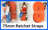 75mm ratchet straps