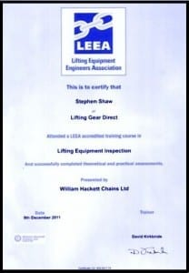 About Rope Services Direct inspection certification