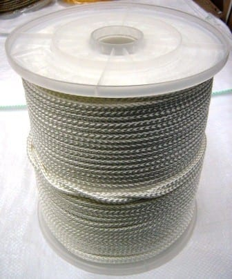 white polyester braided rope coil