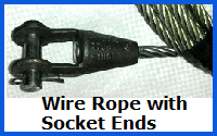 wire rope with socket ends