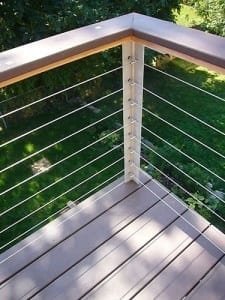 Wire rope balustrades
