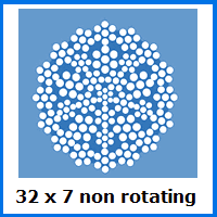 32 x 7 non-rotating wire rope