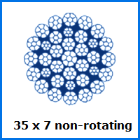 35 x 7 non-rotating wire rope
