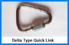 delta type quick link - lifting rings & links