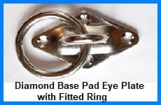 diamond base pad eye plate fitted with ring