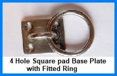 Four Hole Plate Fitted with Ring