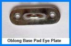 oblong base pad eye plates