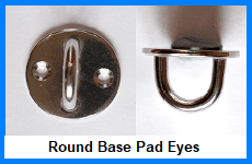 round base pad eyes
