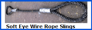 soft eye wire rope slings