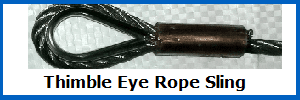 thimble eye wire rope sling