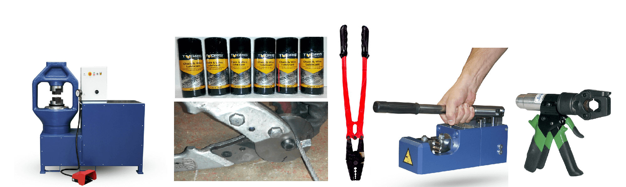 Wire Rope Tools | Cutters Crimpers Lubricant | Rope Services