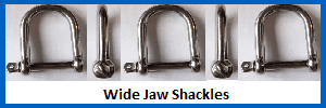wide jaw shackles