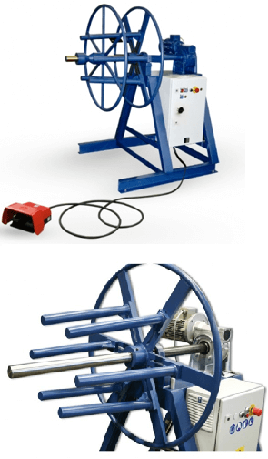 wire rope coiling machine