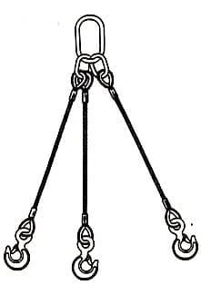 three leg wire rope slings