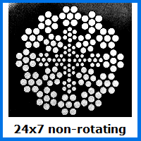 24x7 rotation resistant wire rope