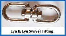 eye & eye swivel fitting
