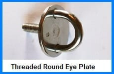 threaded round eye plate