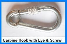 carbine hook c/w eye & screw nut