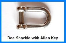 dee shackle with allen pin