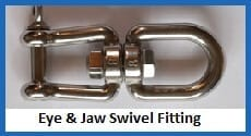 eye-jaw swivel fitting