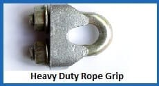 heavy duty rope grips