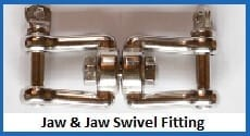 jaw-jaw swivel fitting
