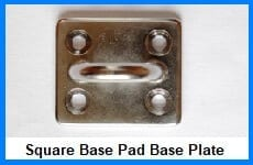 square base pad eyes