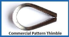 Stainless Steel Commercial Pattern thimbles - Wire Rope Thimbles
