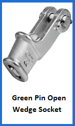 green pin open wedge socket