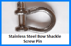 stainless steel bow shackle screw pin
