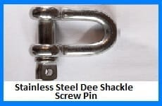 stainless steel dee shackle - screw pin