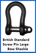British Standard Screw Pin Large Bow Shackle