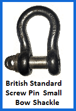 British Standard Small Screw Pin Bow Shackle