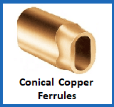 conical copper ferrules