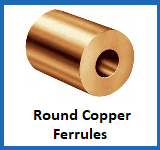 round copper ferrules