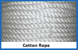 cotton natural fibre rope
