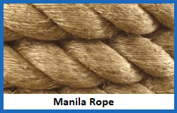 manila natural fibre rope