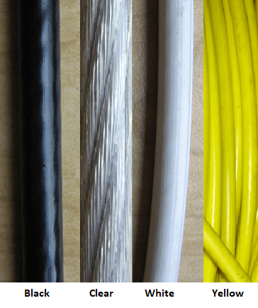 6 x 19 plastic coated wire rope
