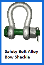 Safety Bolt Alloy Bow Shackles