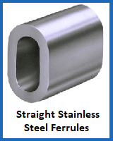 straight stainless steel ferrules