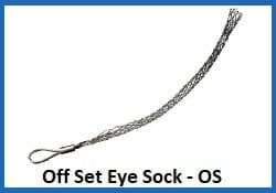 off set eye wire rope sock - os