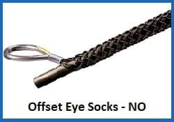non metallic off set eye wire rope sock