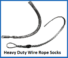 heavy duty wire rope socks