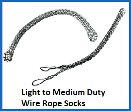 light to medium duty wire rope socke