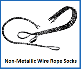 non metallic wire rope socks